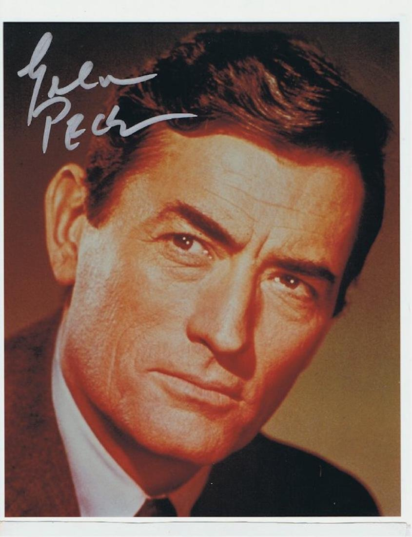 GREGORY PECK- 8 X 10 SIGNED PHOTO W/ COA
