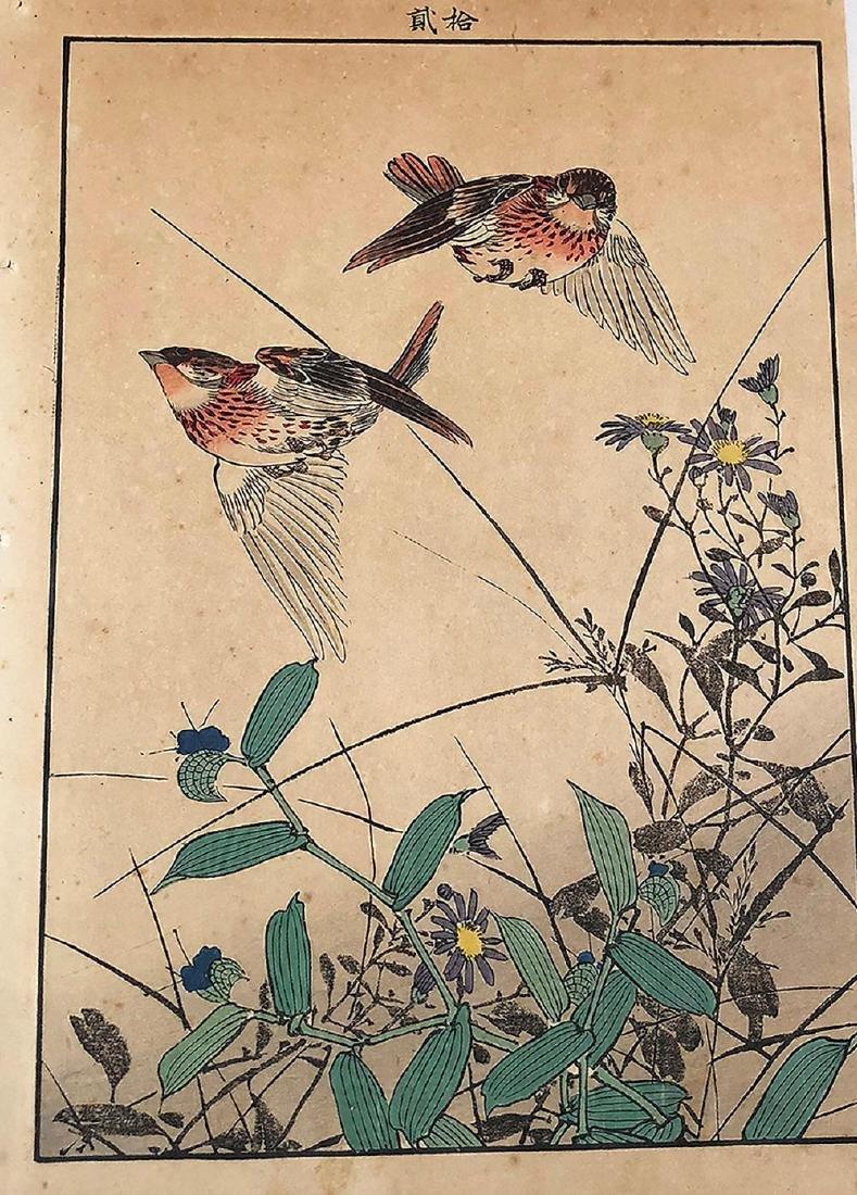 "Japanese Woodblock Print (Unsigned artist) - ""Bird on a"