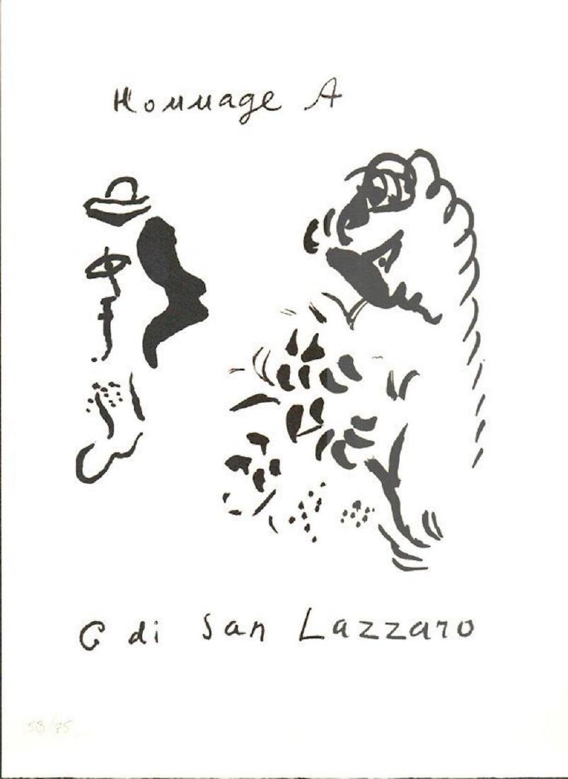 CHAGALL HOMAGE TO SAN LAZZRO LIMITED EDTION # 53/75