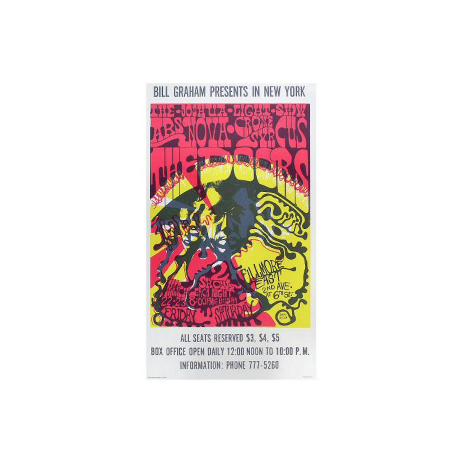 The Doors - 1968 Fillmore East Concert Poster
