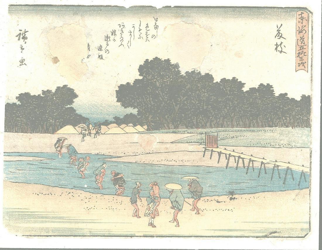 Original Hiroshige (1797 - 1858) Japanese Woodblock