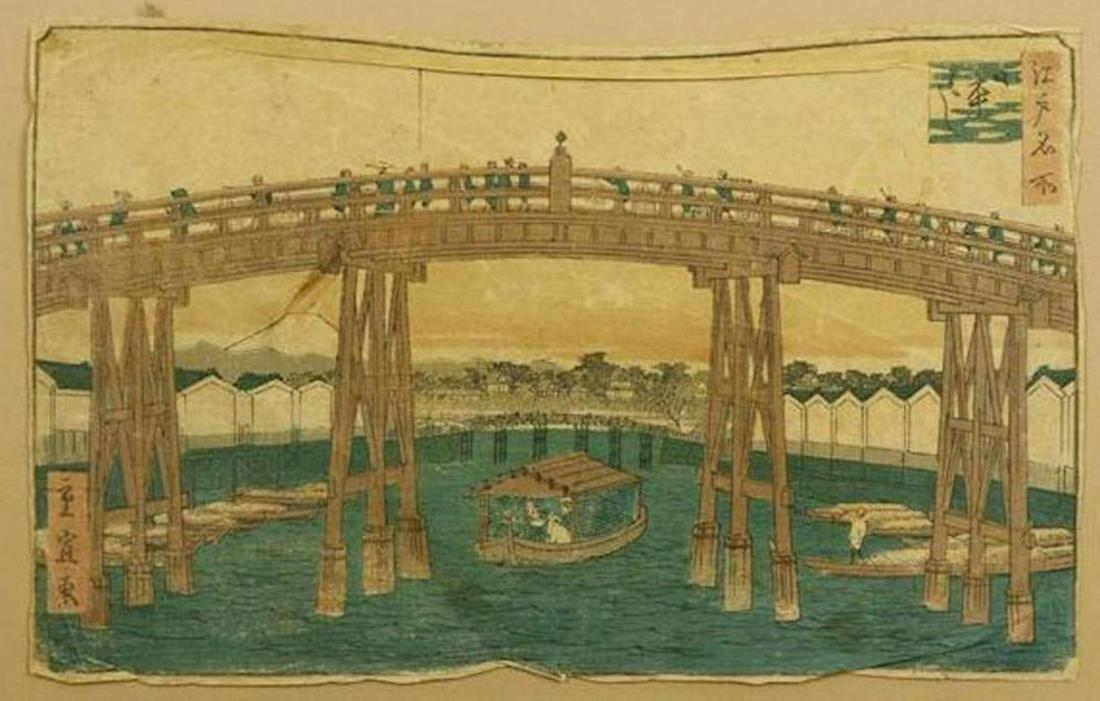 HIROSHIGE (1797-1858) JAPANESE WOODBLOCK PRINT- WOODEN