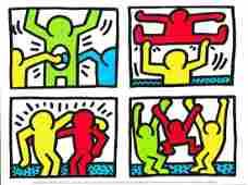 Keith Haring  Pop Shop Quad I 1987