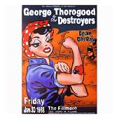 George Thorogood & The Destroyers - 1998 Concert Poster