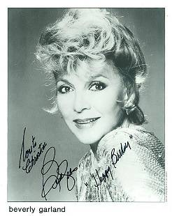Beverly Garland 8x10 Signed black and white photograph