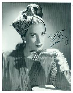 Andrea King 8x10 Signed black and white photograph