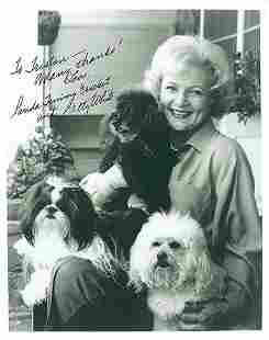 Betty White 8x10 Signed black and white photograph