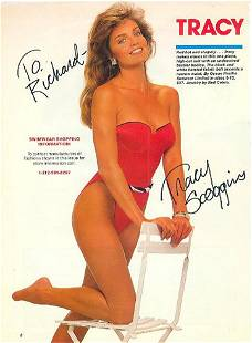 Tracy Scoggins 8x11 Signed beautiful color photograph