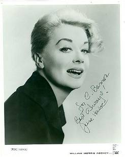 June Havoc 8x10 Signed black and white photograph