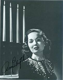 Ann Blyth 65x85 Signed black and white photograph