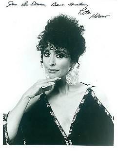 Rita Moreno 8x10 Signed black and white photograph