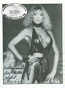 Sybil Danning 85x11 Signed black and white photograph