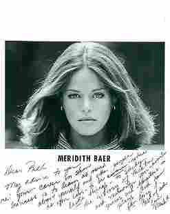 Meredith Baer 8x10 Signed beautiful black and white