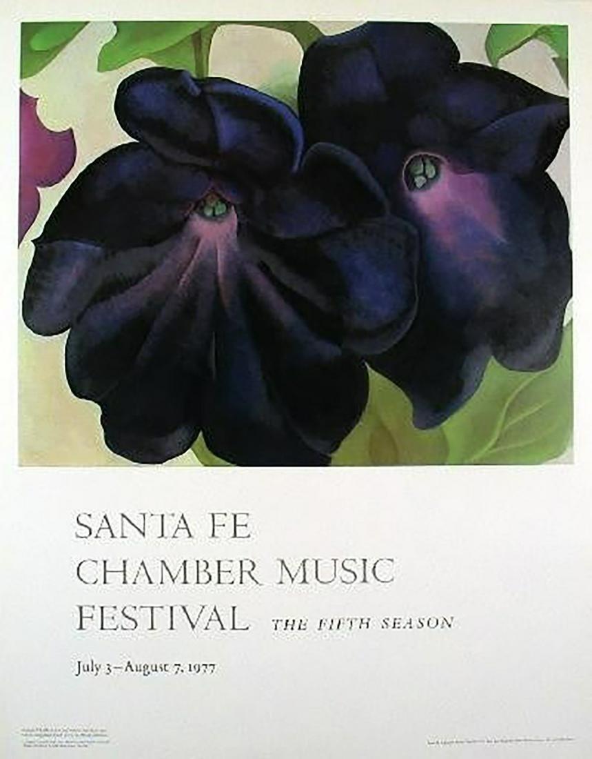 "Georgia O'Keeffe - ""Black And Purple Petunias"" (Rare"
