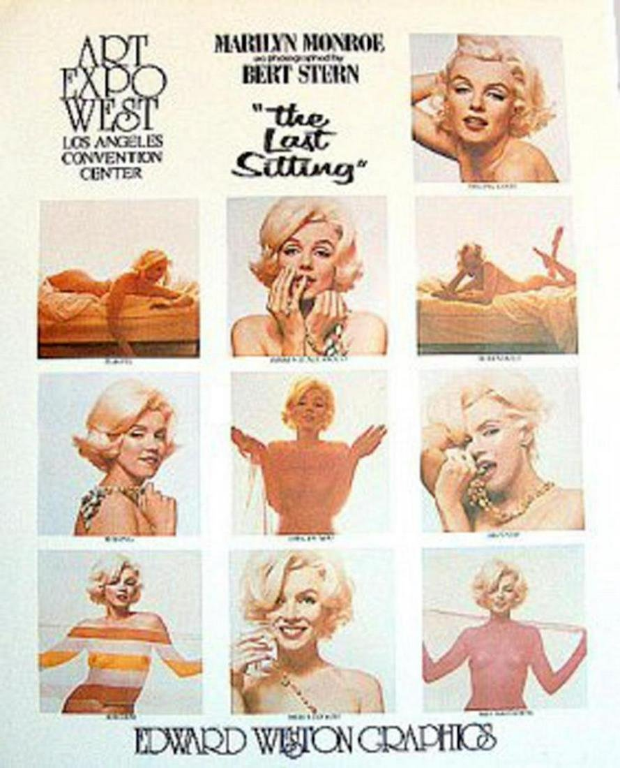 "BERT STERN ""MARILYN MONROE"" POSTER. 10 images PUBLISHED"