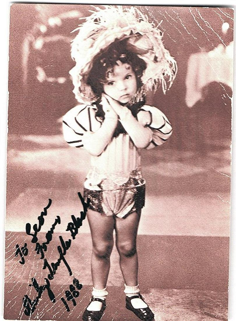 SHIRLEY TEMPLE- 4.25 X 6 PHOTO W/ CERTIFICATE
