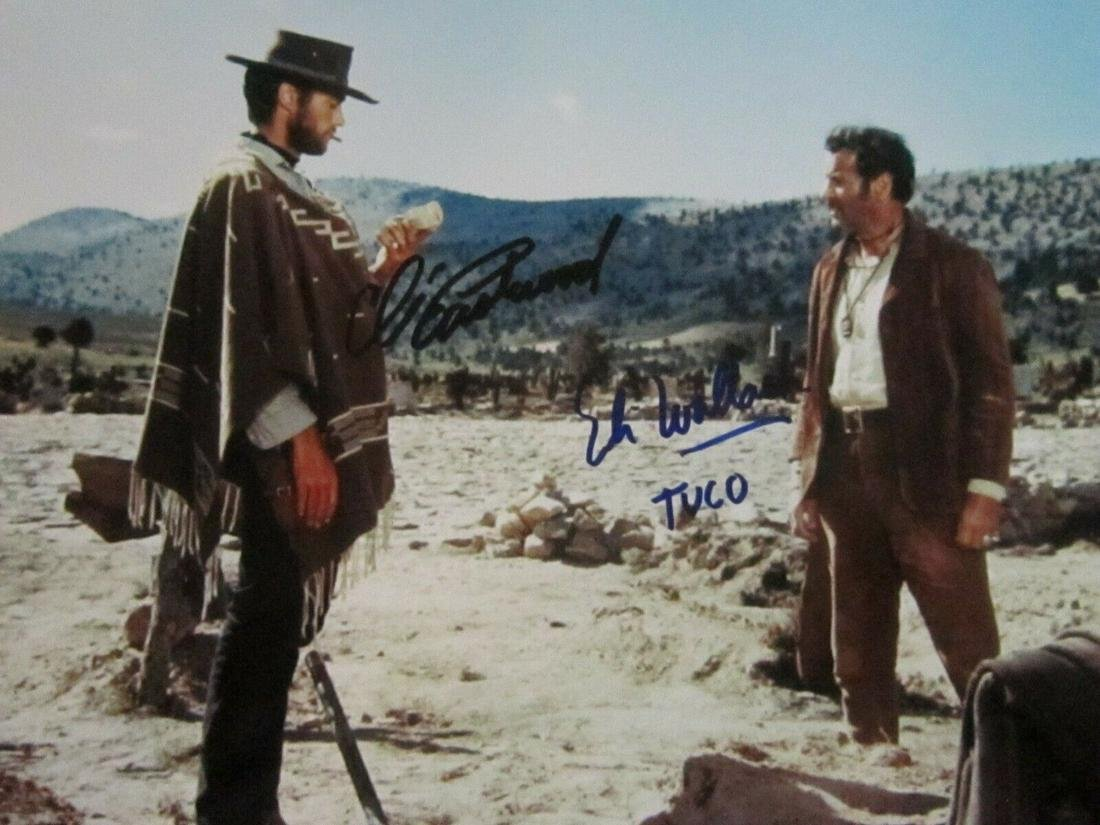 Clint Eastwood & Eli Wallach - 8 x 10 Signed Photograph