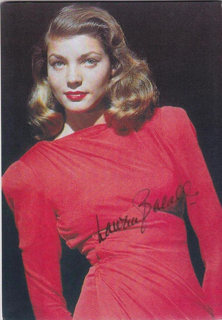 Lauren Bacall - Signed 7.5 x 10.75 Photograph w/COA