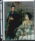 ELIZABETH TAYLOR & PAUL NEWMAN SIGNED 8 X 10