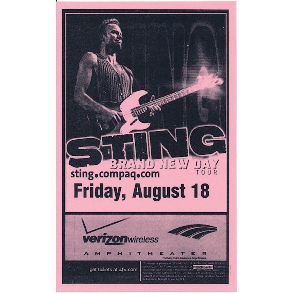 Sting - Brand New Day Tour - 2000 Concert Handbill