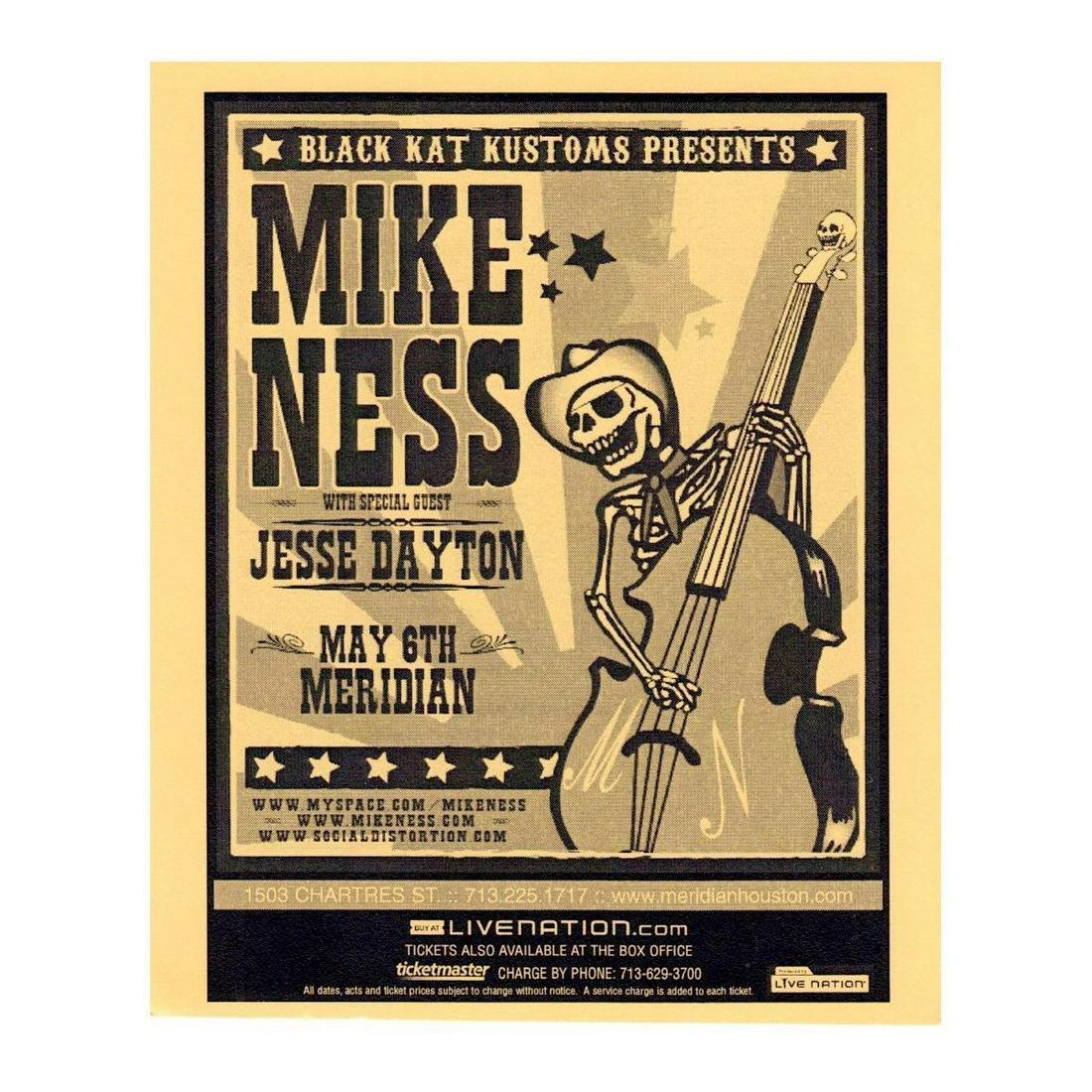 Social Distortion - Mike Ness - 2008 Concert Handbill
