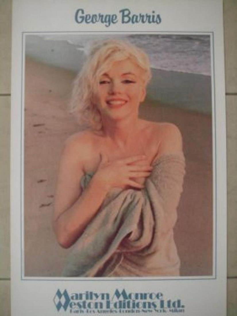 "GEORGE BARRIS ""MARILYN MONROE ON THE BEACH W/ ROBE""."