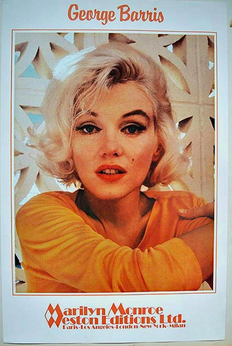 "GEORGE BARRIS ""MARILYN MONROE"" POSTER. POSTER POSTER."
