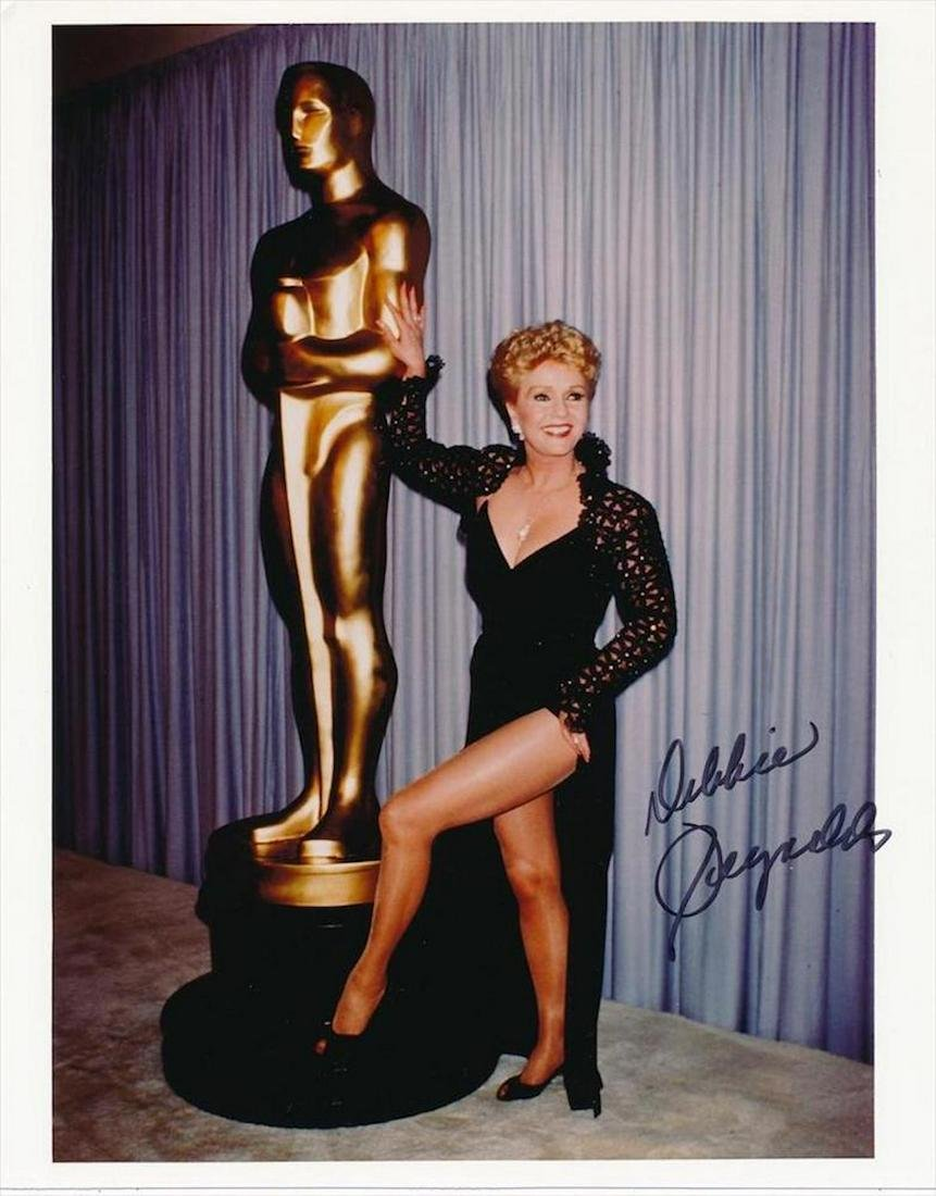 Debbie Reynolds- Color Glossy signed 8 x 10 photograph