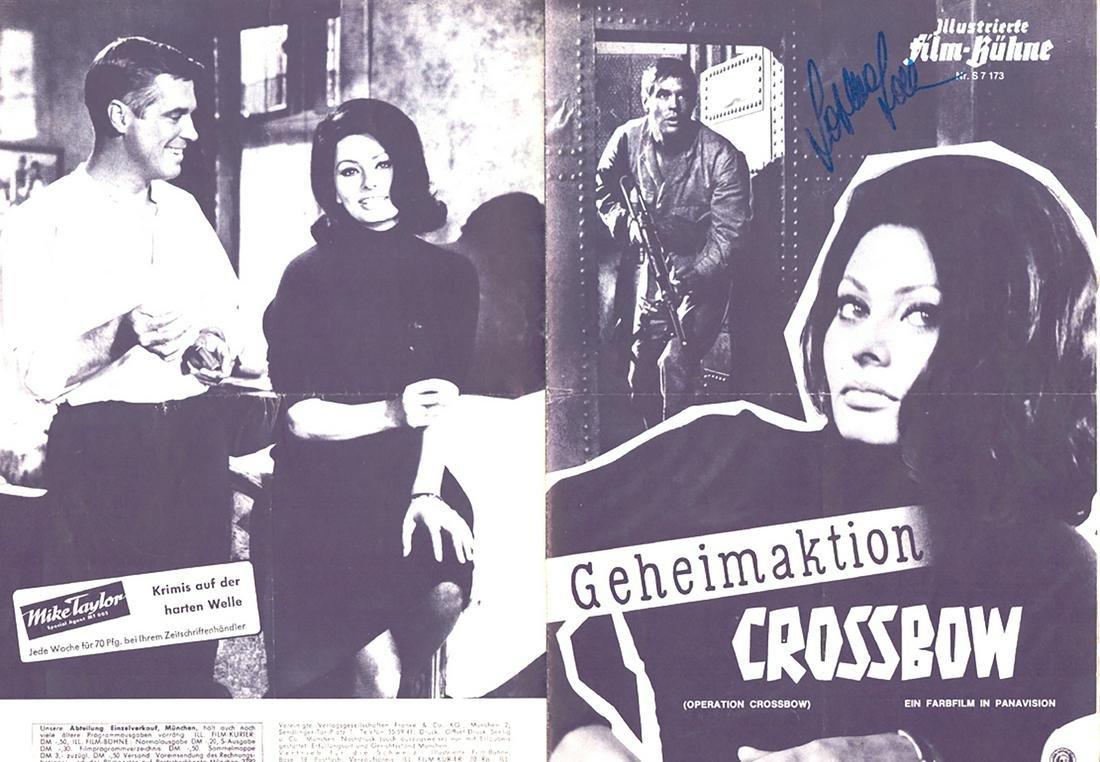 Sophia Loren - Signed German movie flyer w/ COA