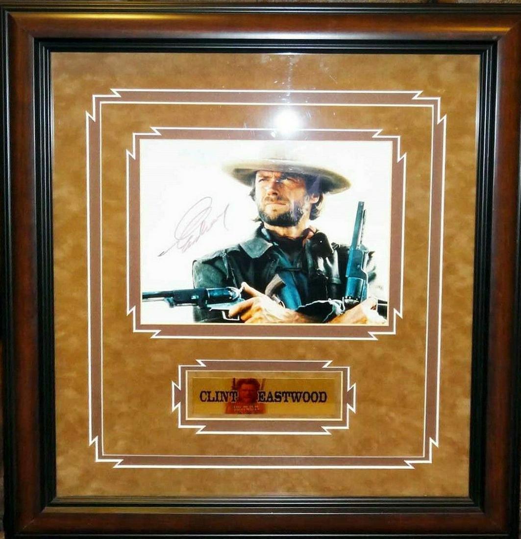 Clint Eastwood - 20 x 22 Signed Framed Photograph w/COA