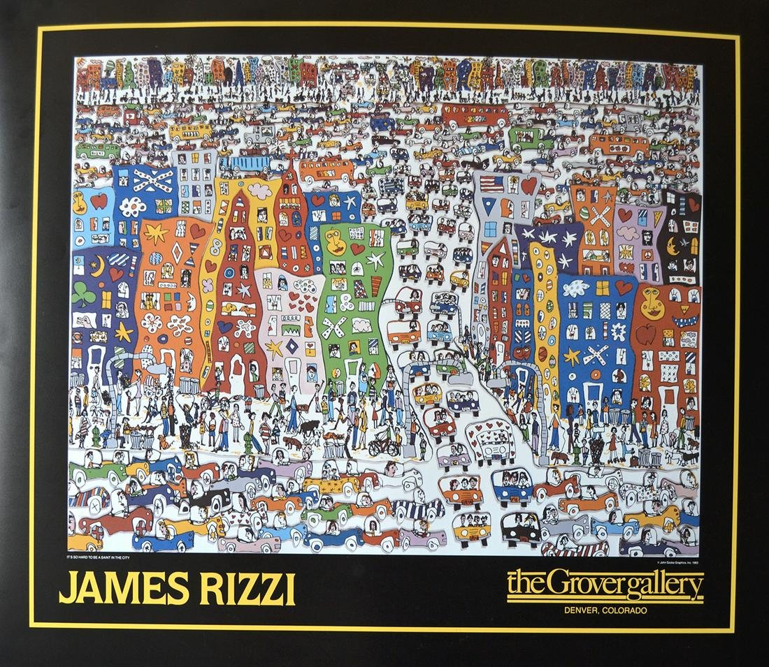 """James Rizzi - """"It's So Hard To Be A Saint In The City"""""""