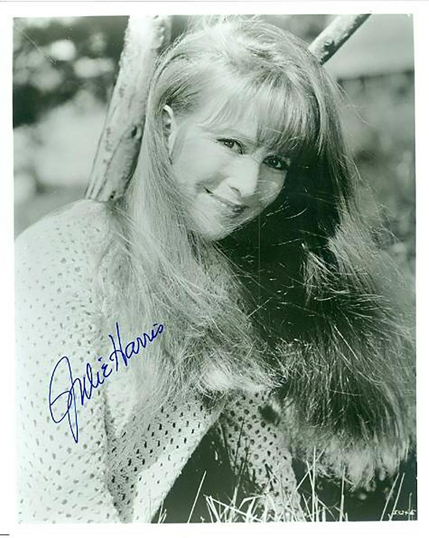 Julie Harris- 8x10 Signed black and white photograph