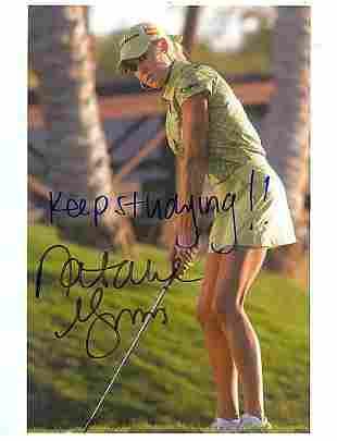 Natalie Gulbis - 8.5 x 11 Signed Photograph w/COA