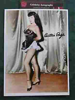 BETTIE PAGE - 8 X 10 PHOTOGRAPH