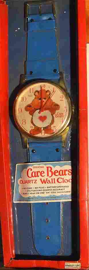 "BRADLEY TIME 26"" BEARS QUARTZ WRISTWATCH WALL CLOCK"