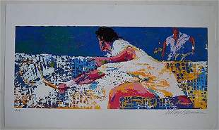 "LEROY NEIMAN ""TENNIS""serigraph signed"