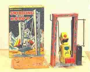 MECHANICAL SWINGING BABY ROBOT SUPER RARE IN BOX