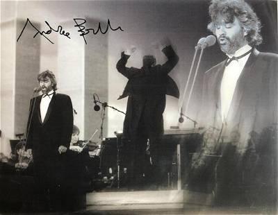 Andrea Bocelli- 12x 9.5 Signed photograph w/COA