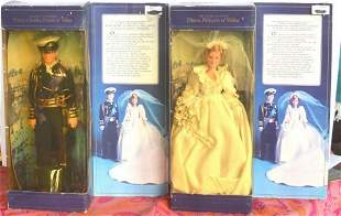 DIANA, PRINCESS OF WALES DOLL FIGURE WITH DOLL STAND