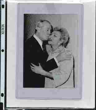 MAURICE CHEVALIER SIGNED 7 X 5 PHOTOGRAPH