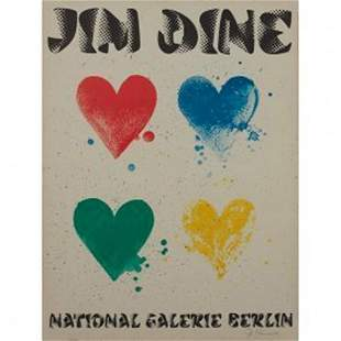 Jim Dine HEARTS (b.1935) National Galerie Berlin 1971