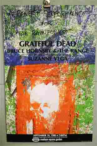 GRATEFUL DEAD RAIN FOREST BENEFIT POSTER