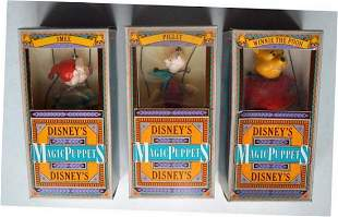 "3 DISNEY'S MAGIC PUPPETS ""SMEE"", ""PIGLET, & ""WINNIE THE"