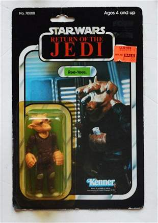 Star Wars ROTJ REE-YEES ACTION FIGURE ON CARD