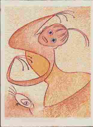 MAX ERNST HOMAGE TO SAN LAZZRO SIGNED EDTION # 53/75