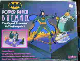 POWER PUNCH BATMAN. THE CAPED CRUSADER VS PENGUIN!