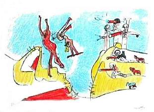 "ROBERTO MATTA CHILIEAN ""Had a great fall"" ORIGIMAL LIT"