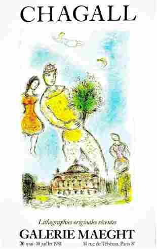 """Marc Chagall -""""Man with flower"""""""