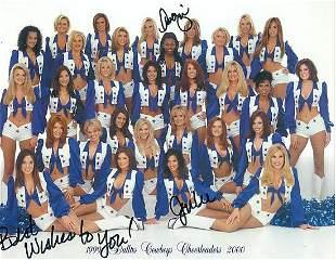 Dallas Cowboys  Cheerleaders - 8 x 10 Signed Photograph