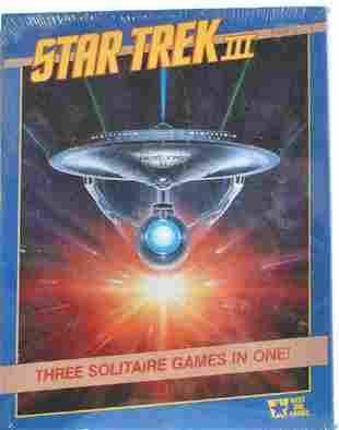 STAR TREK III THREE SOLITAIRE GAMES IN ONE!